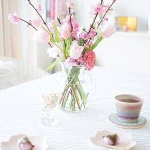 【連載】ワンコインの花でひな祭りの可愛い花飾り♡活け方&花選びのコツ