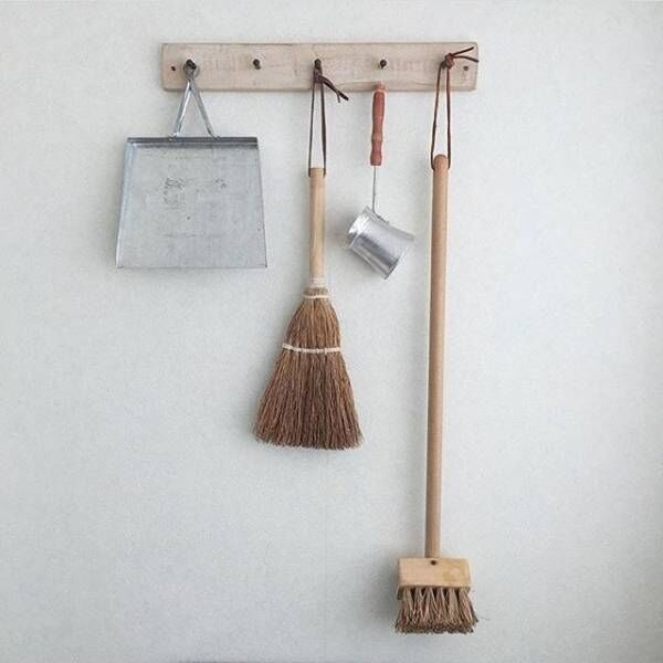 おしゃれなお掃除道具の収納法