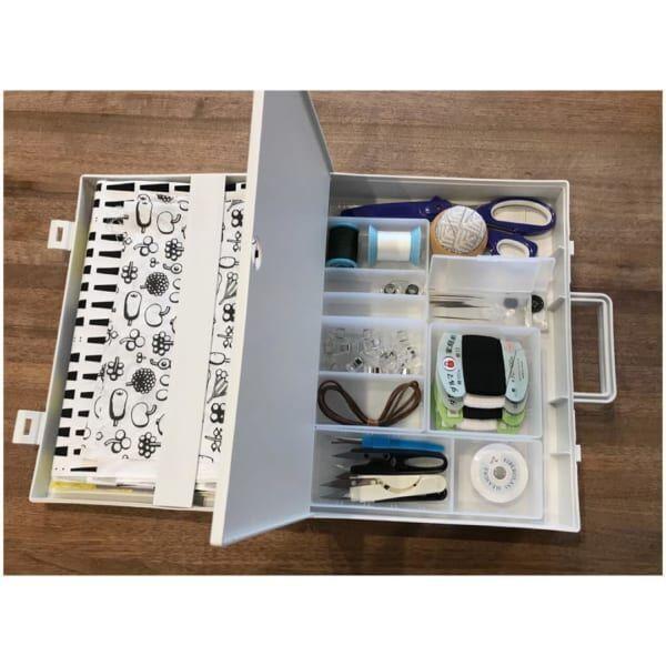 裁縫道具収納 無印良品の自立するキャリーケース