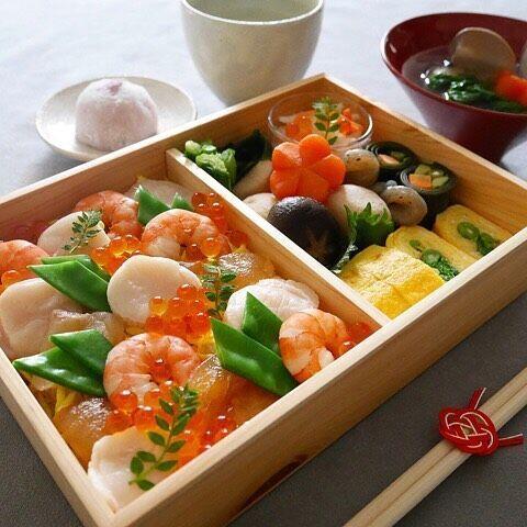 ひな祭りテーブルコーディネートちらし寿司