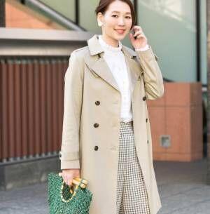 スプリングコートの定番♡トレンチコートを今年らしく着こなすコツ!
