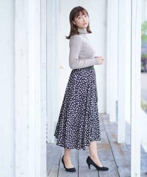 [rps] ヒョウ柄ロングスカート