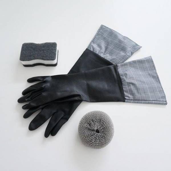 セリア 黒いゴム手袋
