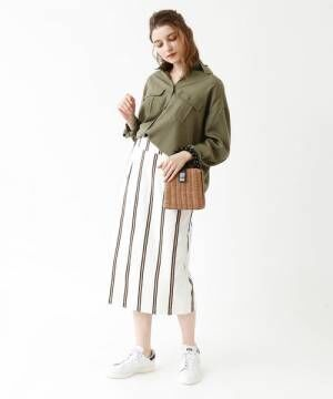 [titivate] レジメンタルストライプタイトスカート