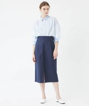 [titivate] サイドベルトスリットAラインスカート