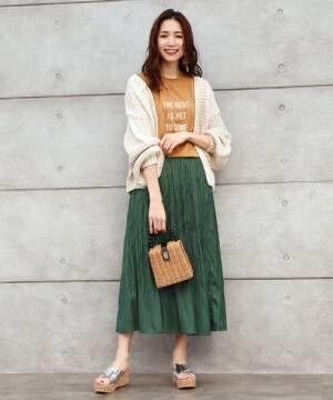 [titivate] シアーツイルランダムプリーツスカート
