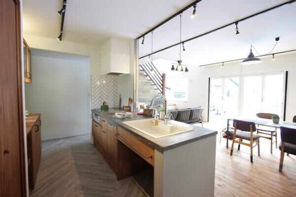 対面I型キッチン2