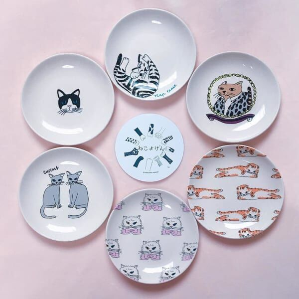 ねこよげん豆皿(3COINS)