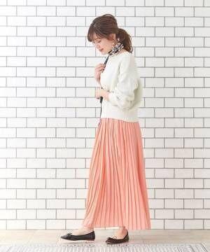 [le.coeur blanc] サイドプリーツマキシスカート