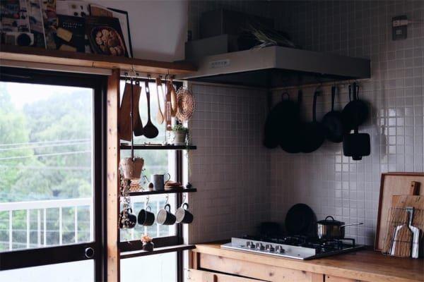 古道具好きさんの素敵なキッチン:団地リノベーション4