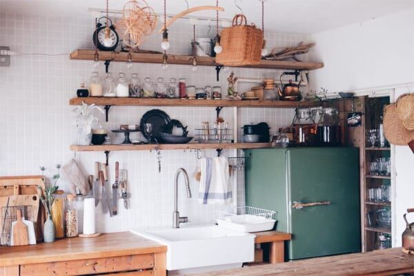 古道具好きさんの素敵なキッチン:団地リノベーション5