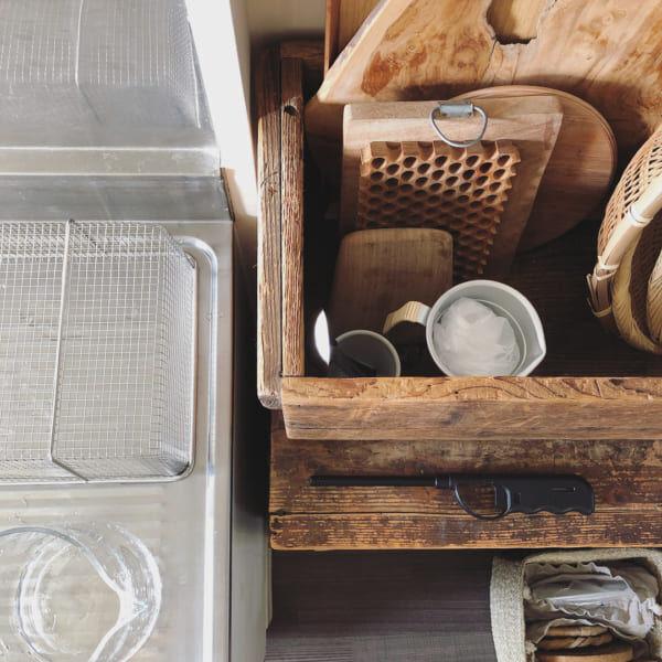 古道具好きさんの素敵なキッチン:古いアパートをリノベーション5