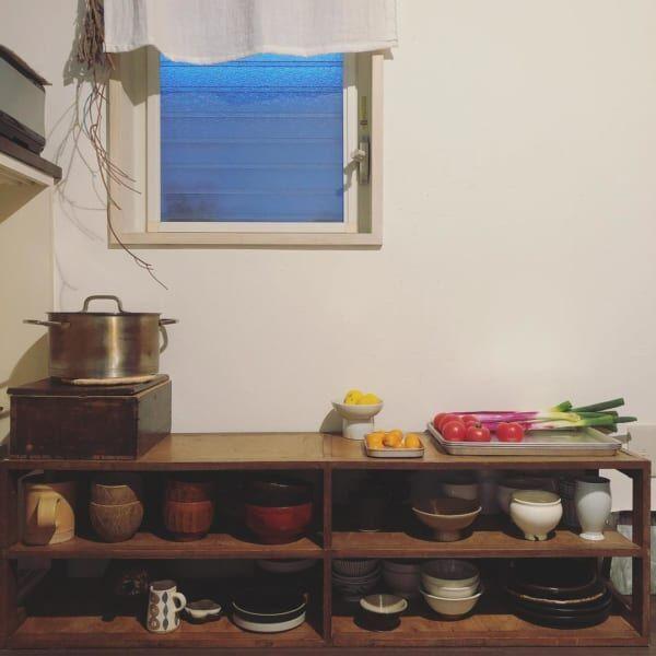 古道具好きさんの素敵なキッチン:古いアパートをリノベーション7