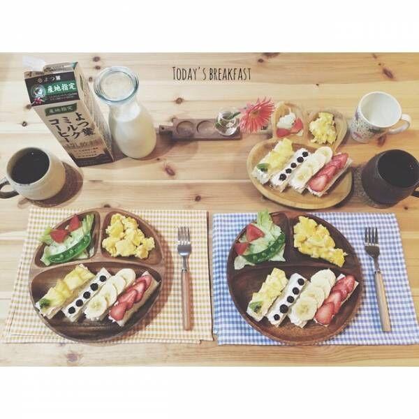 パンがメインの朝食シーン2