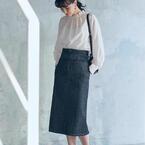 「デニムスカート」を着こなす春の休日コーデ☆タイト&フレアシルエットをチェック