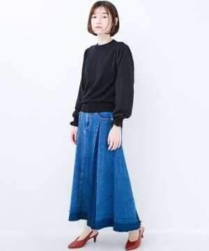 [haco!] これを着るだけでかわいくなれる気がする!ドットシフォンの袖にキュンとするニット