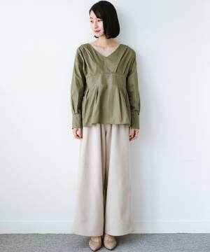 [haco!] パッと着るだけで今っぽ&女っぽが叶うプルオーバーブラウス