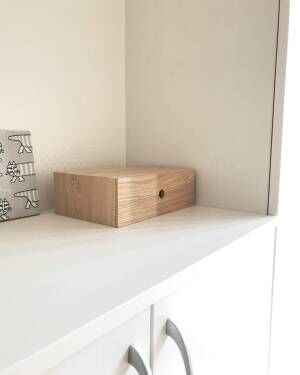 無印の木製引き出しで小物を目隠し