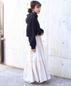 [Auntie Rosa] 【Holiday】ティアードマキシスカート◆ZOZOTOWN限定◆