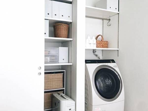 ランドリー収納で機能的な空間に!洗濯機周辺はこうやってすっきりさせる