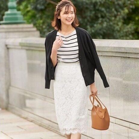 カラー別にチェック!大人フェミニンコーデのマストハブ「レースタイトスカート」15選☆