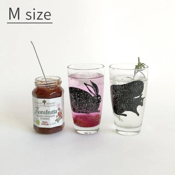 リスモチーフのグラス
