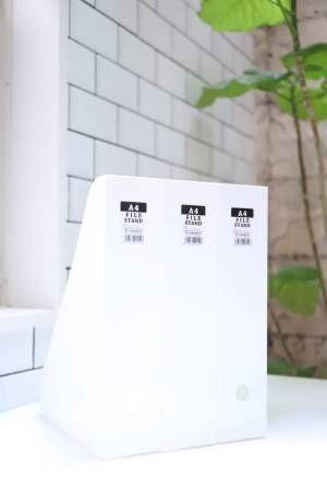 真っ白な収納アイテムその①A4ファイルスタンド