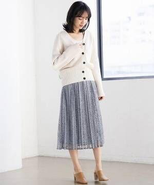 [apart by lowrys] Pレースプリーツスカート 824670