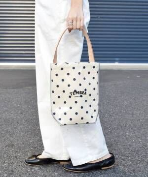[SHIPS for women] 【別注】TEMBEA:PVC BAGUETTE TOTE MINI ドット◆