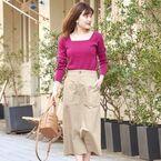 毎日コーデもオシャレに変身♡ロングタイトスカートで楽しむ春スタイル集