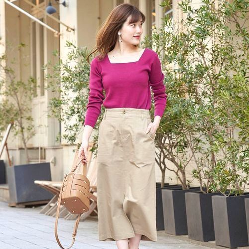 24b870a70f9d6e 毎日コーデもオシャレに変身♡ロングタイトスカートで楽しむ春スタイル集 ...