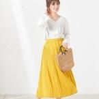 ほど良い甘さがGOOD♡「プリーツスカート」で叶える大人のガーリースタイル特集!
