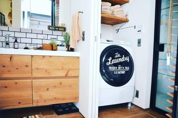 洗濯機にステッカー