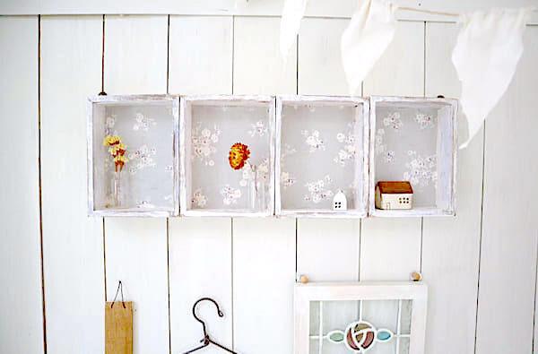 【連載】100均の木のボックスを繋げてキュートな《飾り棚》を作ってみよう♪