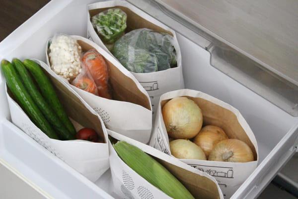 【野菜室】ペーパーバッグダイソー