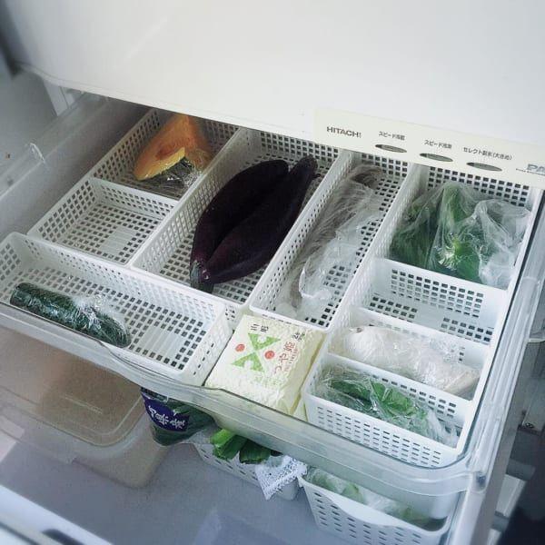 【野菜室】ボックス仕分け収納