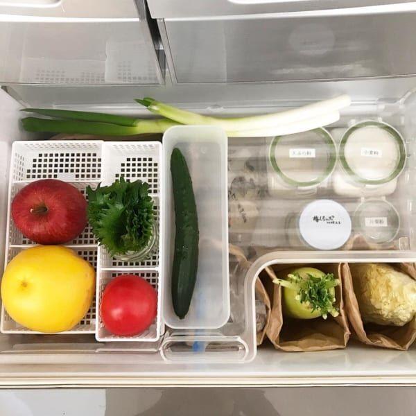 【野菜室】ボックス×ペーパーバッグ