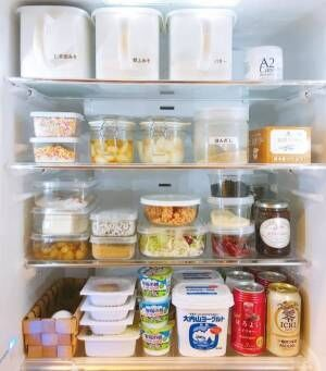 【冷蔵室】見せる収納透明容器