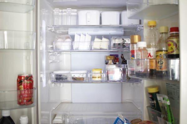 【冷蔵室】見せる収納透明ケース