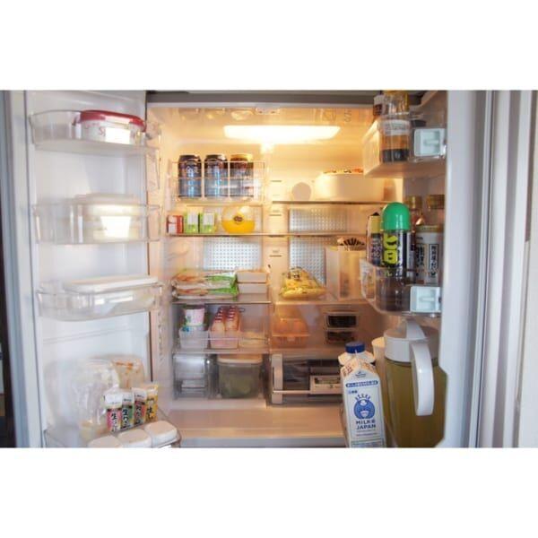 【冷蔵室】見せる収納ボックス