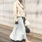 2019年春ヒット中!《ロングプリーツスカート》の色・柄別コーデ集
