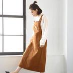 ジャンパースカートは大人が着るからこそ可愛い!キメすぎないおしゃれ春コーデ
