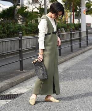 [Eimee Law & WASH] 【Eimee Law】デザインベルトボンディングジャンパースカート