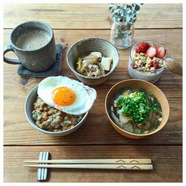 カジュアルな和食の朝ごはん
