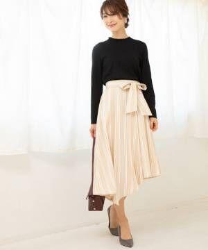 [ViS] ツイルアシメヘムベルト付スカート