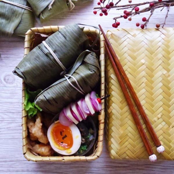 竹カゴのお弁当3
