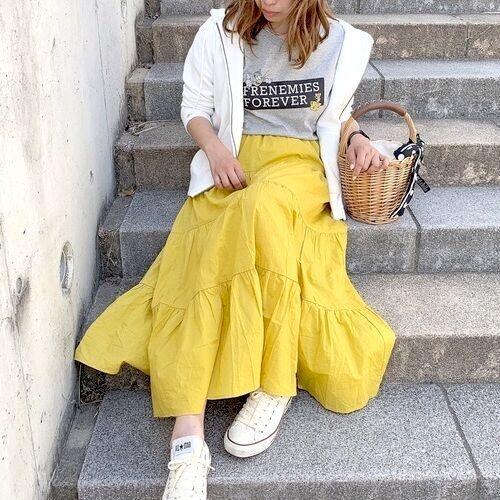 【GU】春スカートで今にぴったりな着こなしGET!おしゃれな大人女子コーデ