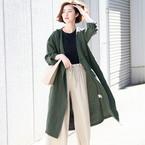 羽織るだけで旬顔に♡「ノーカラージャケット・コート」の着こなし15選