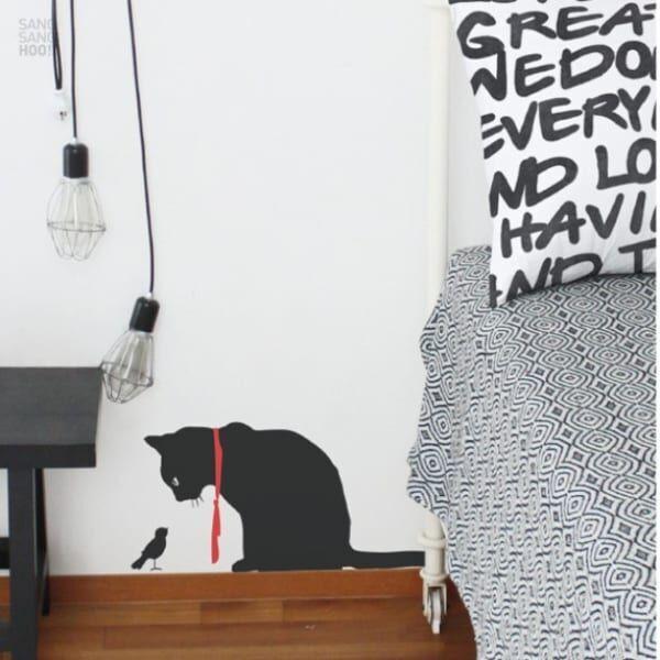 黒猫ウォールステッカー