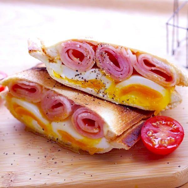 見た目も味も大満足♡おしゃれで美味しい「ホットサンド&わんぱくサンド」をご紹介♪